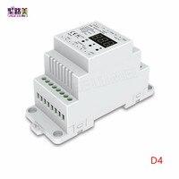DC5V 12 V 24 V 36 V 4CH PWM de tensión constante/corriente constante CC CV DMX DMX512 decodificador Controlador LED para RGB RGBW LED Cinta de la lámpara