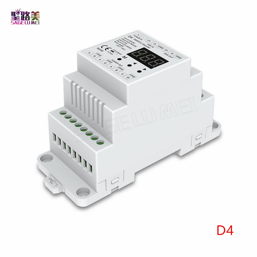 DC5V 12V 24V 36V  4CH PWM Constant Voltage / Constant Current CC CV DMX Decoder DMX512 LED Controller For RGB RGBW LED Tape Lamp