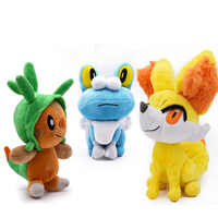 3 PCS/lot Anime Peluche Toy Chespin Froakie Fennekin Animal Stuffed Plush Baby Toys Great Christmas Gift For Children