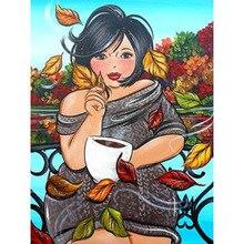 Fat women diy diamond painting fat mosaic making full round embroidery cross stitch