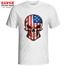 все цены на Mysterious Smile From USA Skull T Shirt Awesome Flag Design Skate Style Pop T-shirt Novelty Active Print Men Women Top Tee