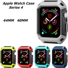 Case Cover For Apple Watch 4 TPU PC Hard Bumper Cover Frame Protective Accessorie For Iwatch Series 40/44mm Fall Resistance Case стоимость