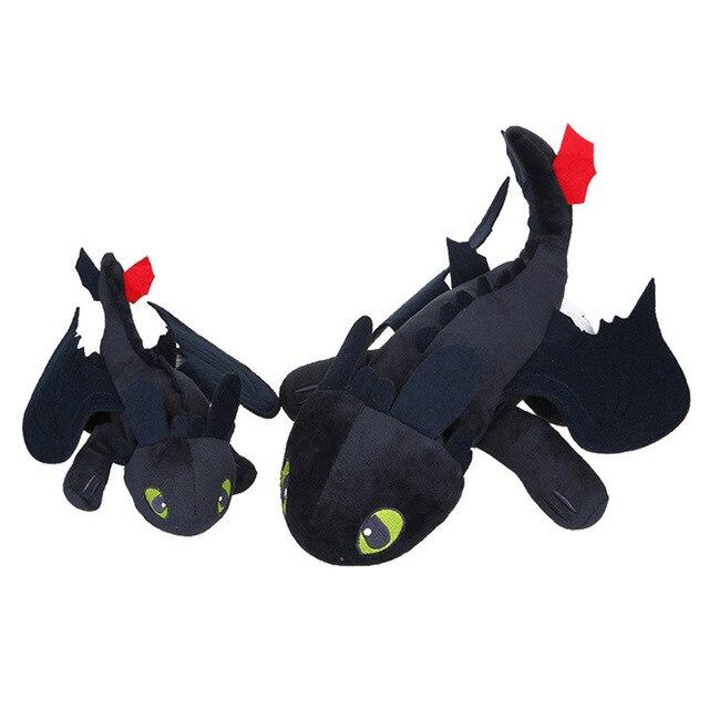 Anime Como treinar O Seu Dragão de pelúcia brinquedos de pelúcia Desdentado Fúria Da Noite Plush stuffed animal boneca brinquedos para as crianças