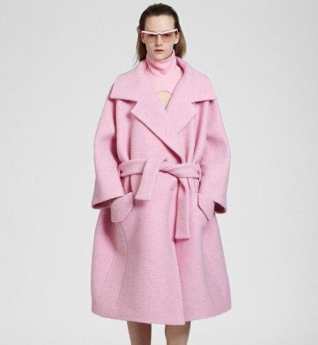 FREE Dropshipping Sweet Pink font b Women s b font Woolen font b Jacket b font