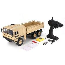 цены на JJRC Q64 1/16 2.4G 6WD RC Car Military Truck Off-road Rock Crawler RTR Toy 6 Wheels RC Racing Truck Toys For Children Xmas Gifts  в интернет-магазинах