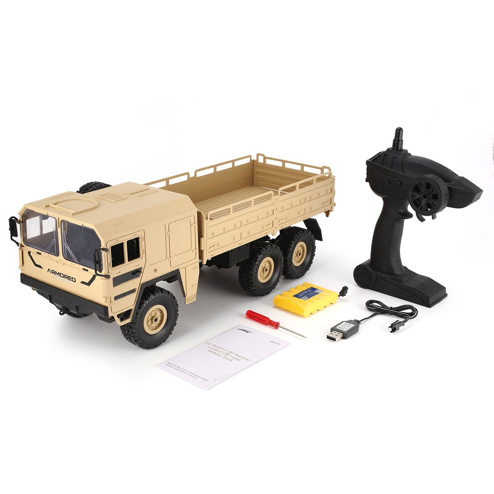 JJRC Q64 1/16 2.4G 6WD RC Car Military Truck Off-road Rock Crawler RTR Toy 6 Wheels RC Racing Truck Toys For Children Xmas Gifts