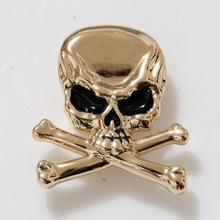 KB708 50pc Cowboy Decor Skull Crossbones Concho Gold