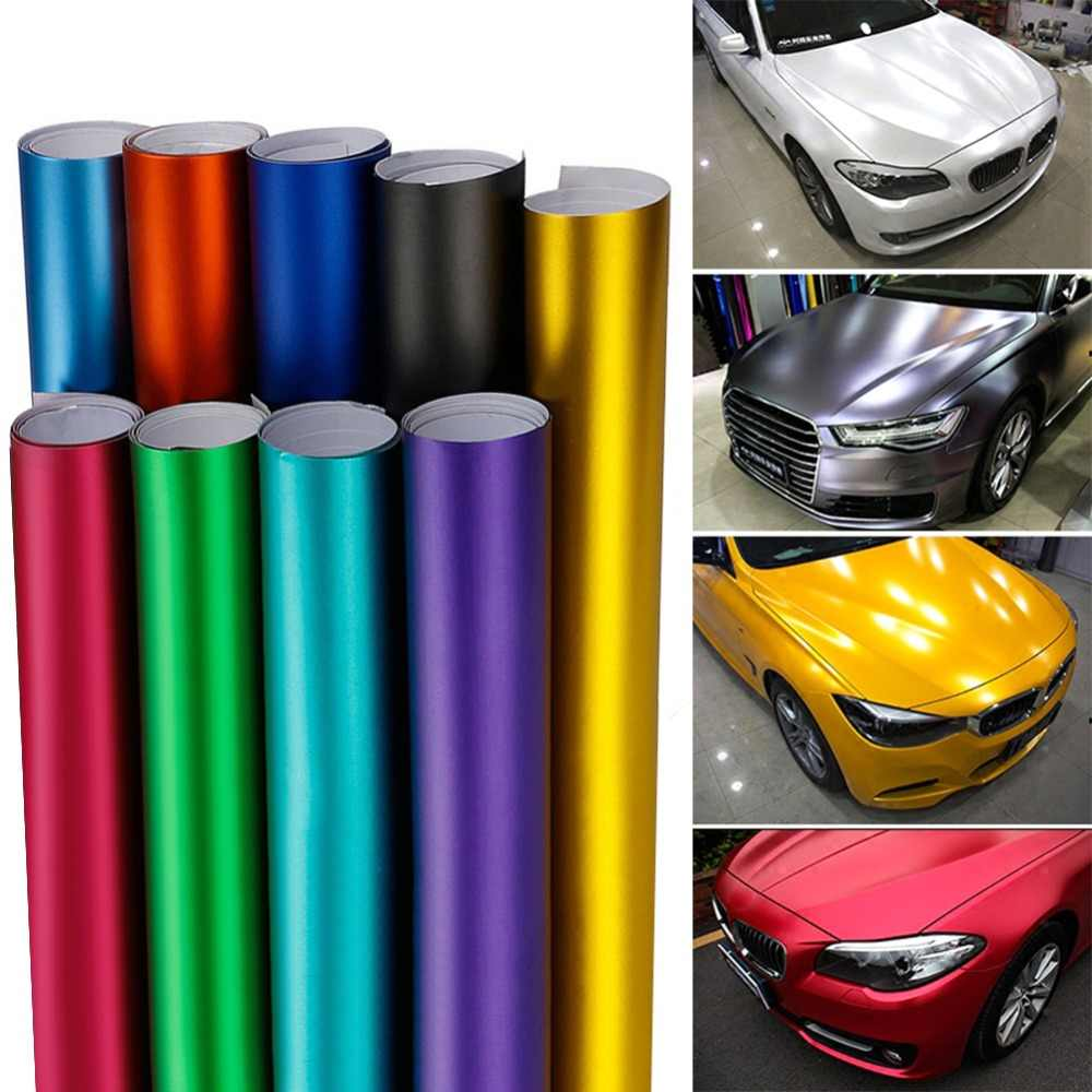 1x152x10 cm PVC Vinyl Wrap Plating Matte Ice Sticker Decoratieve Auto Film Motocycle