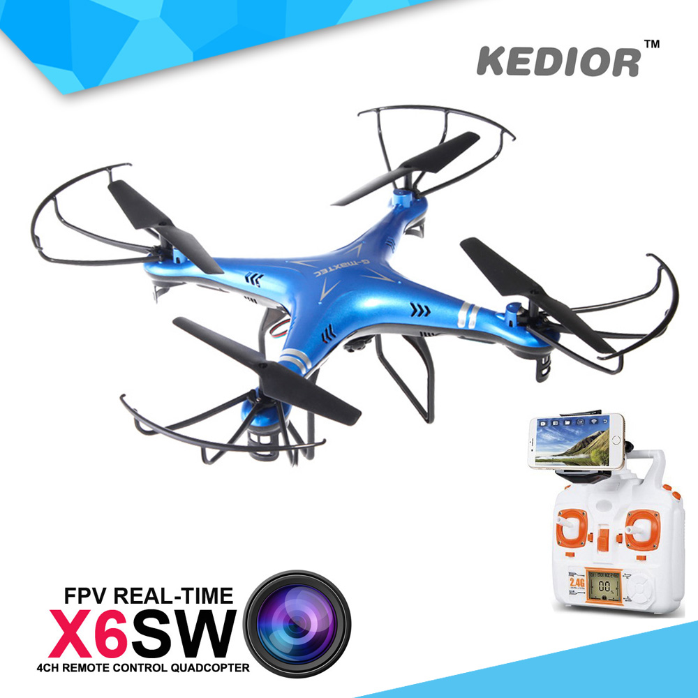 X6SW Professional FPV RC Quadcopter font b Drone b font With WIFI Camera HD 2 4G