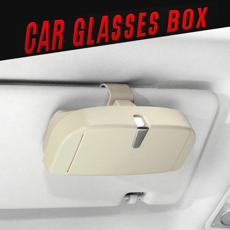 Case-Holder Glasses Storage Ticket-Card Car-Sun-Visor Auto-Interior-Accessories Clip