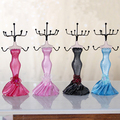 Princess Wearing Dress Style Jewelry Stand Earring Necklace Holder Display Stand