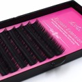 High Quality Natural Individual False Eyelashes Extension Human Hair C Curl 0.15mm Imitate Mink Eye Lashes 3d 6d 9d