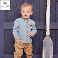DB5053 dave bella spring autumn baby boys shirt  cotton tops baby red plaid  clothes infant denim shirt toddle shirt boys tops