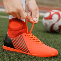 Men's Outdoor Comfortable Short Nail Sports Soccer Shoes Sneakers for Men High Quality Lawn Breathable Football Shoes Zapatos