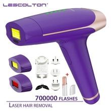 Depilador a laser lescolton ipl 3 em 1 700000 vezes, máquina de remoção de pelos permanente, depilação elétrica