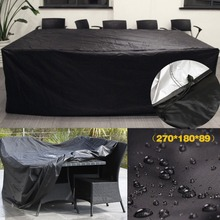 Black Waterproof Outdoor Patio Garden Furniture Covers Rain Snow Chair covers for Sofa Table Dust Proof Cover 270*180*89cm