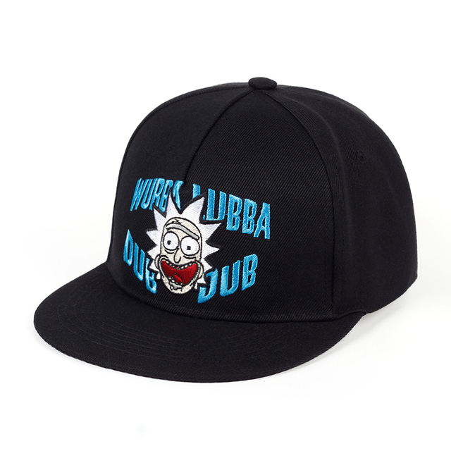 d828ddabf5e Wubba lubba dub dub Snapback Rick and Morty Classic Sayings Baseball Caps  Rick Molding Exquisite Embroidery