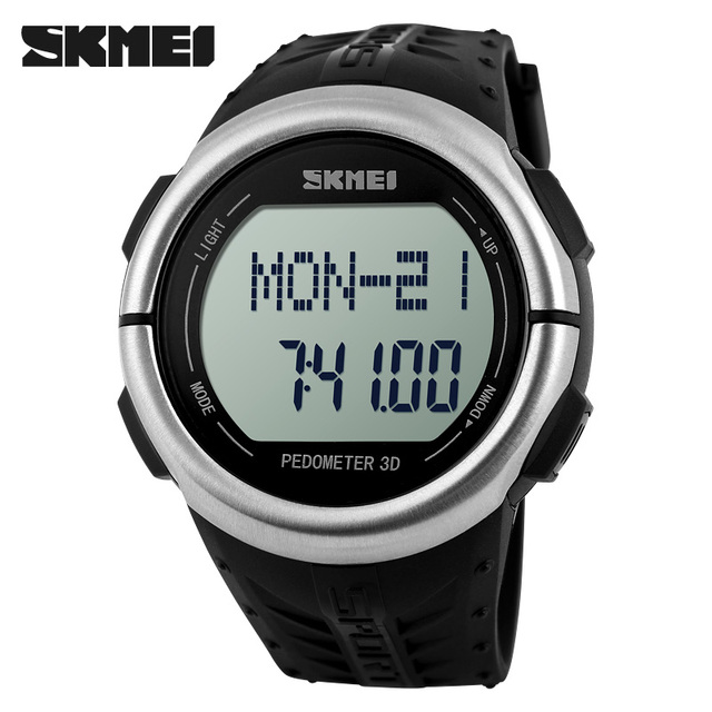 SKMEI 1058 Automatic heart rate monitor watch Men Fashion waterproof Watch top quality famous army Pedometer wristwatch military
