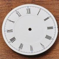 34.5 미리메터 화이트 다이얼 로마 숫자 시계 액세서리