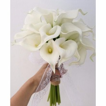 10Pcs Calla Lily Artificial Flower Real Touch Latex Bridal Wedding Bouquet Home Decor