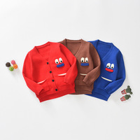 Children Winter Cartoon Sweater New Pattern Loose Coat Knitting Garment