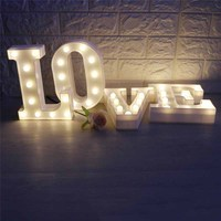 Letter Love LED Night Light for Wedding Engagement Anniversary bridal shower Party bar Sign table centerpiece home Decor favor