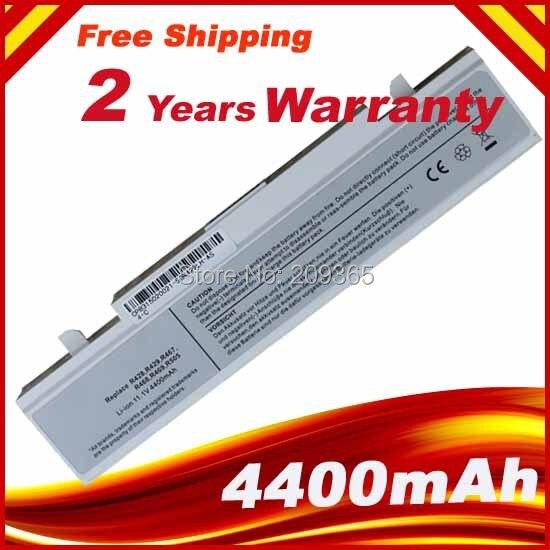 Blanco nuevo reemplazo R428 R429 batería del ordenador portátil para Samsung AA-PB9NS6W AA-PB9NS6B AA-PB9NC5B AA-PB9NC6W