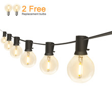 Outdoor LED String Lights Waterproof IP65 18Ft/25Ft G40 Globe LED Filament Bulbs for Patio Garden Porch Backyard Christmas Party цена 2017
