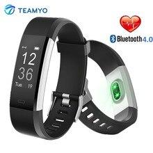 Teamyo ID115 плюс умный браслет Спорт сердечного ритма умный Браслет фитнес трекер сна монитор Браслет Смарт часы для IOS Android