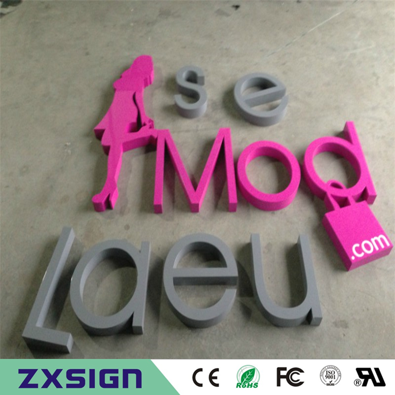 Factory Outlet Outdoor Galvanized Sheet Letters With Painting, Metal Shop Signs With Powder Coated