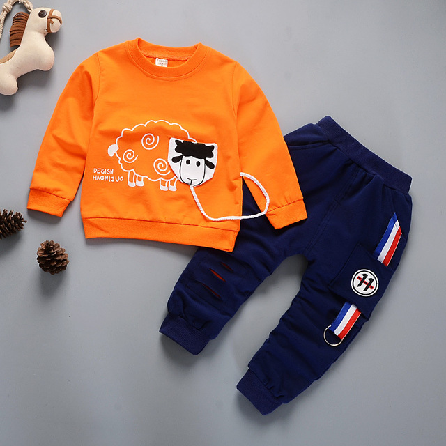 Tracksuit Autumn Baby Clothing Sets Children Boys Girls Fashion Brand Clothes Kids Character T-shirt And Pants 2 Pcs Suits
