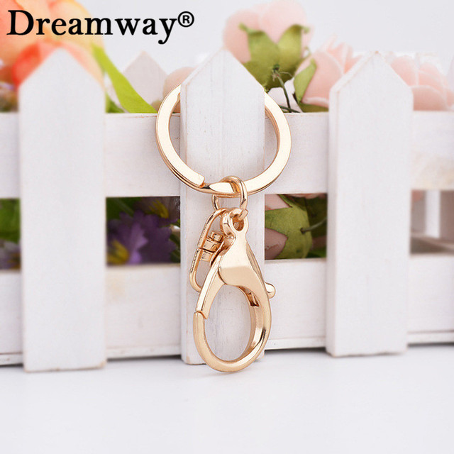 keychain ring lobster clasp key chain accessory jewelry findings gold plated key rings sweater chain wholesale retail