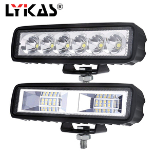 LYKAS 18 Вт 6 дюймов DRL светодиодный рабочий светильник, балки, точечный луч, мотоцикл, внедорожный внедорожник 4x4 ATV, дневные ходовые огни, светил...