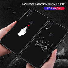 Lovely Pattern TPU Case for Xiaomi Mi 9 Mi 8 A2 Lite Mi9 6X Pocophone F1 Slim Matte Silicone Fundas Capa for Redmi Note 7 6 Pro(China)