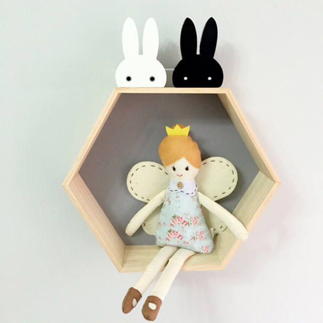 Cute Bunny Wooden Clothes Hooks Kid Room Decoration Rabbit Hook Baby Child Room Eco-friendly Wall Hanger Hooks DIY
