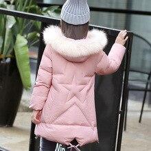 Children s winter 2016 new girls thicken down jacket long Korean children s clothing big boy