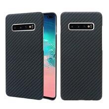 Caso luxuoso para samsung s10 plus s10e s10 ultra fino fosco padrão de fibra carbono caso para samsung s10 plus caso s10 mais capa