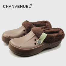 Женская зимняя обувь водонепроницаемые шлепанцы для мужчины и женщины теплая обувь цвета конфет 36-44