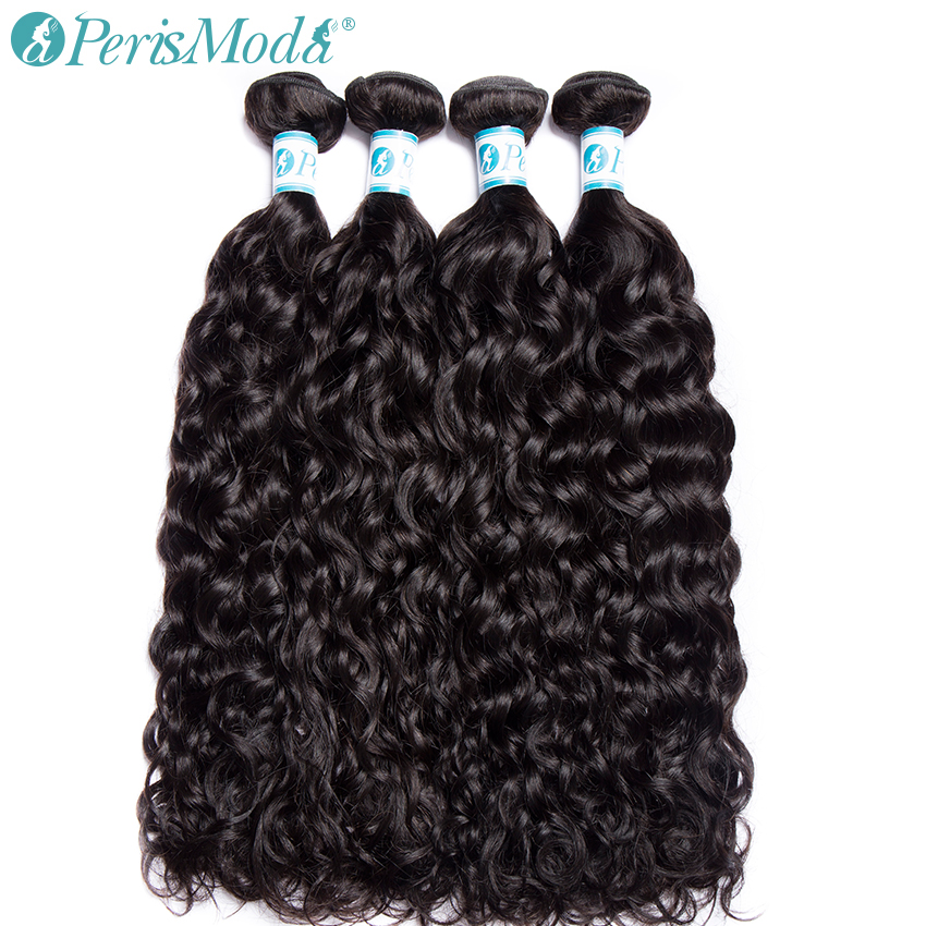 PerisModa שיער מים גל חבילות ברזילאי שיער Weave 1/3/4 צרור להתמודד 10-28 inch טבעי צבע רמי שיער טבעי הרחבות
