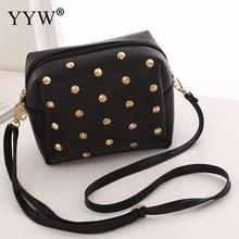 Rivet-Bags Studded Crossbody-Bag Shoulder Purse Women Wallet Small-Bag Synthetic-Leather