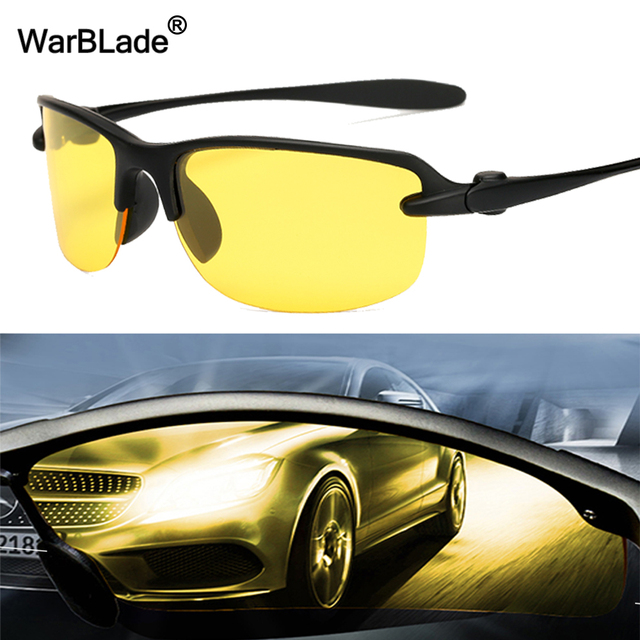 92bbece3869 WarBLade 2018 New Yellow Men Polarized Driving Sunglasses Lense Night  Vision Driving Glasses Polaroid Goggles Reduce Glare