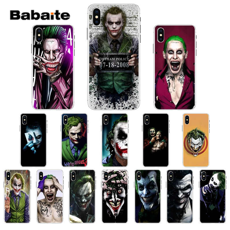 Babaite Batman Dark Knight Joker Karta Soft Silicone Tpu Phone Cover For Apple Iphone 7 6 6s Plus 5 5s Se Xr 8 X Xs Max Cover