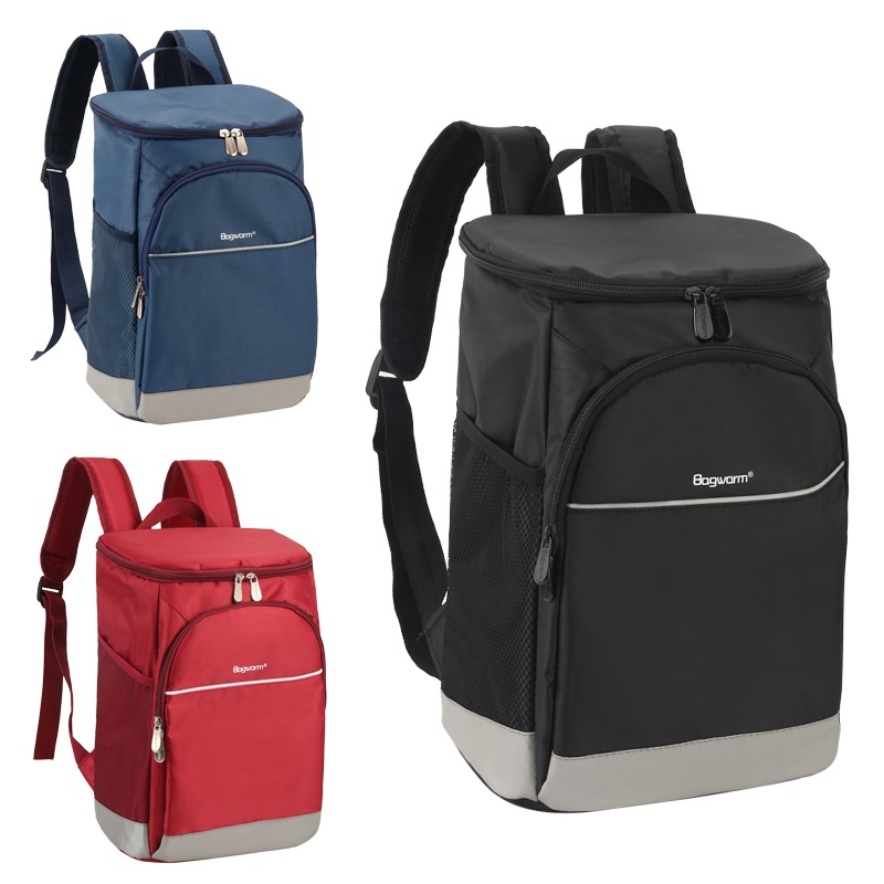 Oxford backpack cooler bag thermo lunch picnic box insulated cool ice pack car fresh Food delivery thermal bags refrigerator image