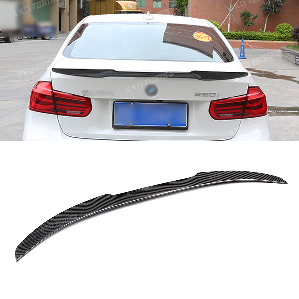 For BMW F30 Spoiler M4 Style 3 Series F30 316i 318i 320i 328i 335i F80 M3 Carbon Fiber Rear Spoiler Trunk Wing Sedan 2012 UP
