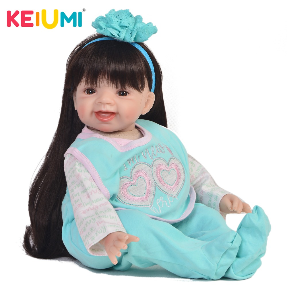 Cute Reborn Alive Girl Doll Soft Vinyl 22 55cm Lifelike Princess Baby Doll Toy For Kids