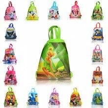 40pcs Mixed Drawstring Backpacks Bags 34*27CM Cartoon Children Non Woven Fabrics Home Storage School Shopping