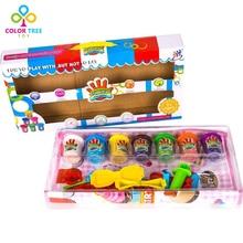 7 Цвет Пластилина Животных Пластилин Плесень Play Set DIY Творческие Игрушки для Детей