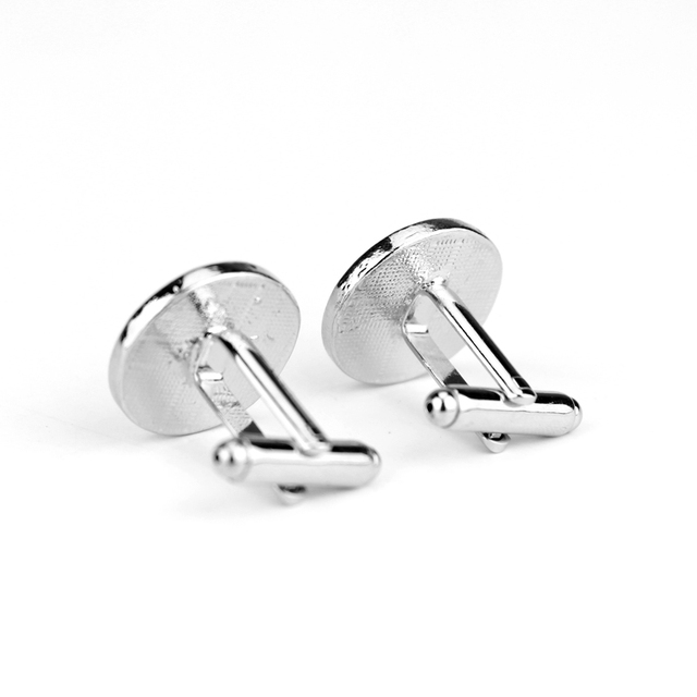 Jewelry Shield Round Eagle Pattern Cufflinks Cuff Buttons Pins