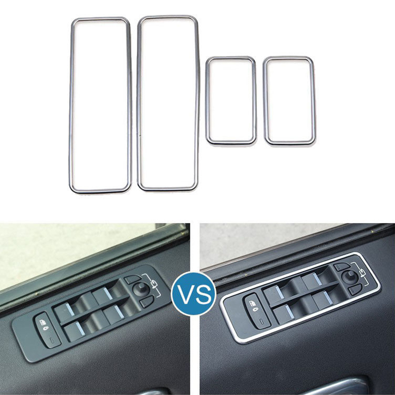 ABS Plastic Adhesive Accessories Parts Window Switch Cover For Land Rover Discovery Sport 2015-2018 Trimmings Car