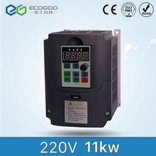 11KW 15HP 400 HZ VFD инвертор, Частотный преобразователь однофазный 220 v вход 3 фазы 380 v Выход 24A для мотора 10HP